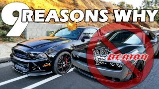 Shelby Super Snake VS Dodge Demon | THE CLEAR CHOICE!