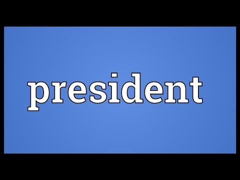 President Meaning