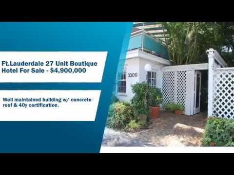 Ft.Lauderdale 27 Unit Boutique Hotel For Sale - $4,900,000