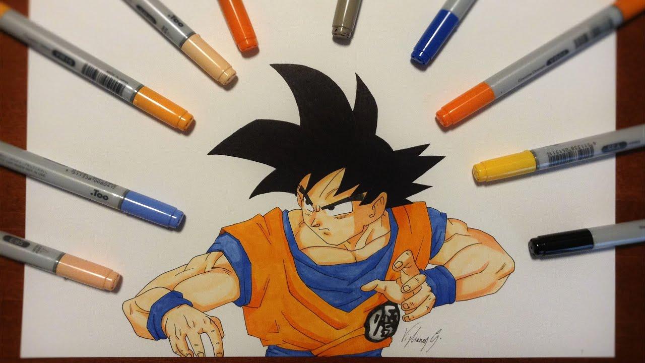 Disegno Drawing Di Goku Dragon Ball Z Youtube