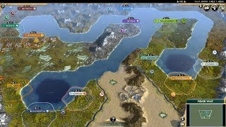 Civ 5 AI Only Timelapse: Channel of Great Invasions