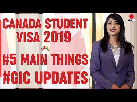 🇨🇦 Canada Student Visa | Canada GIC | Fees, Process , Updates & New Rules 2019