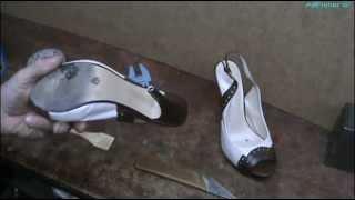 Ремонт обуви. Установка полиуретановых набоек