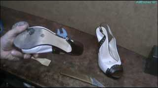 видео Ремонт обуви. Набойка на литую подошву