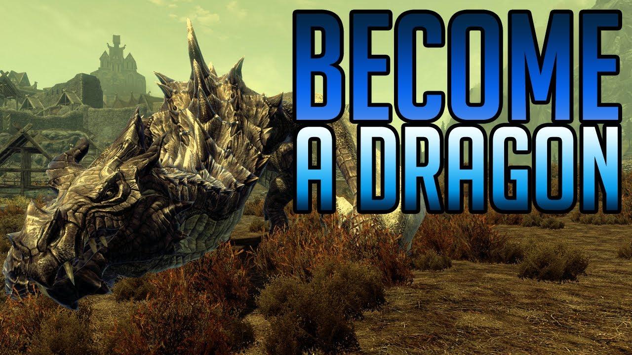 Skyrim Mods - Transform into a Dragon!