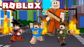 PRISIONEIROS ESCAPAM DA PRISÃO NO ROBLOX! (Mad City)