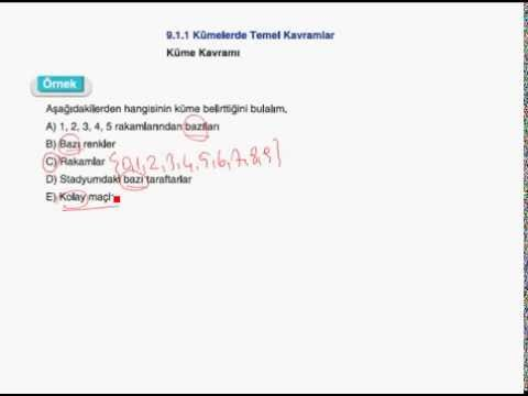 9. Sınıf Matematik - Kümeler Konu Anlatımı - 1 Www.canegitimevi.com