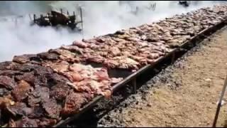 Este vídeo é pra quem gosta de churrasco  (Cuidado imagens fortes para o coração)
