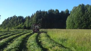 Jinma 354E grass cutting