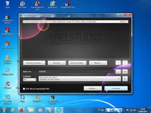 Videoaula Conversão FLAC para MP3
