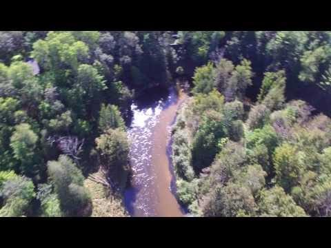 Pere Marquette salmon run 2016 by drone
