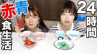 【24時間】赤vs青しか食べられない生活やったらまさかの事態に