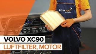 Byta Luftfilter on VOLVO XC90: verkstadshandbok