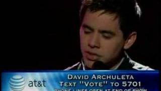 David Archuleta - And So It Goes (5-13-08)
