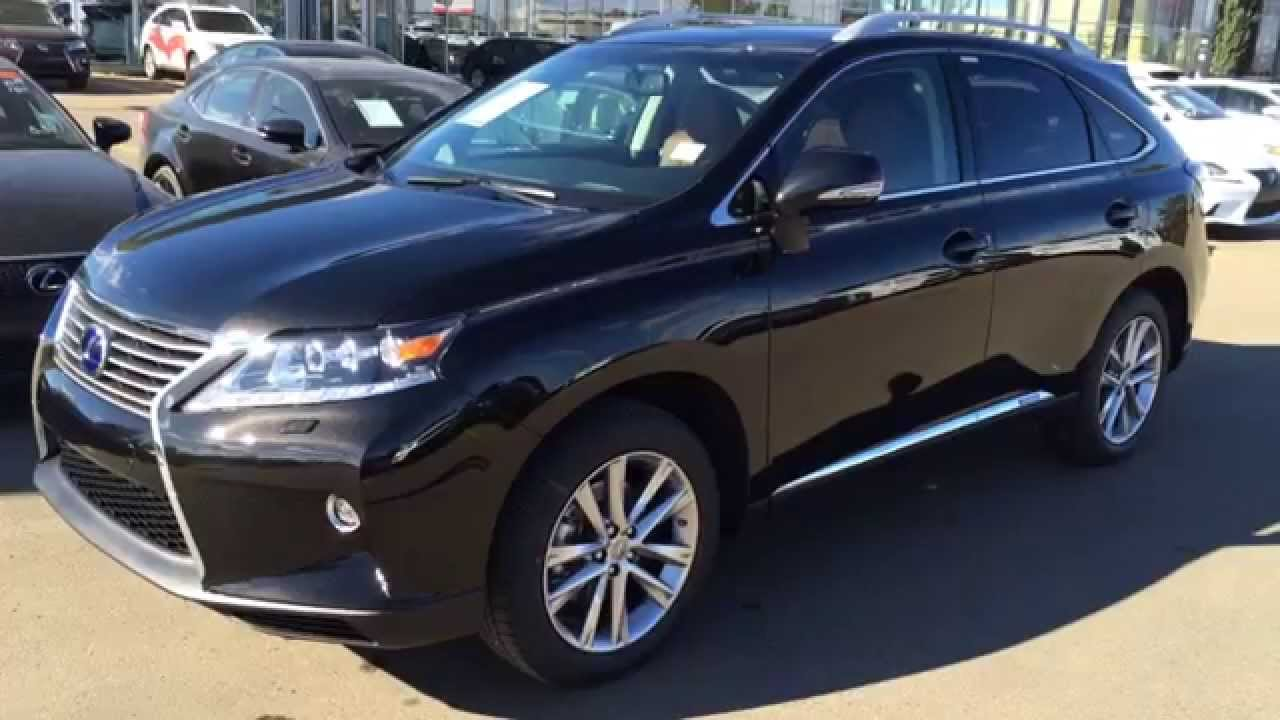 new black on saddle tan 2015 lexus rx 450h hybrid awd review west edmonton youtube. Black Bedroom Furniture Sets. Home Design Ideas