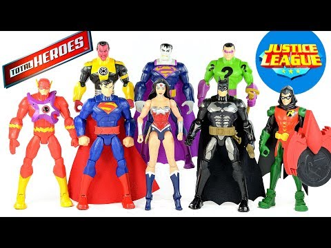 Justice League Total Heroes Batman Superman Flash Starro & The Riddler plus Sinestro & Bizarro