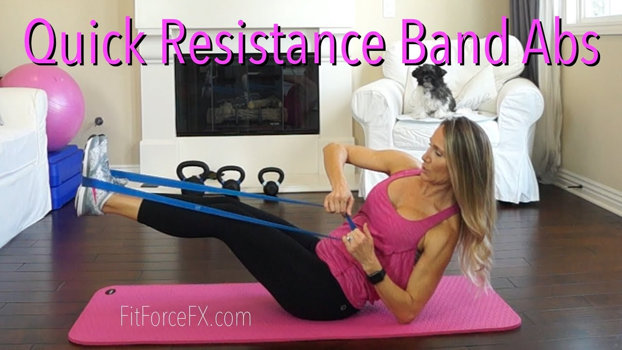 Resistance Band Abs Workout Core Exercises For Sculpted Tight Abs