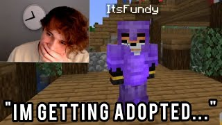 Ghostbur finds out His Son Fundy is getting ADOPTED by Eret on The Dream SMP!! (Ghostbur Cries)