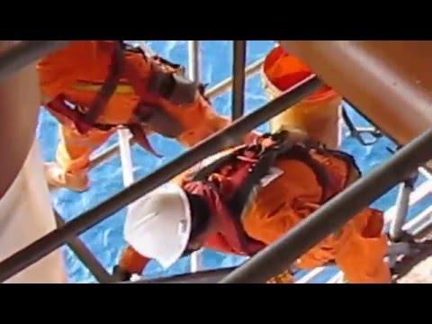 YADANA vertical closed tank Scaffolding job