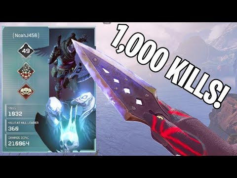 1,000+ KILLS AS WRAITH!!! - Apex Legends Battle Royale Gameplay