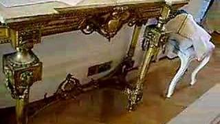 This Video Is Unavailable.     Antique Swedish Console Gold Gilt Table
