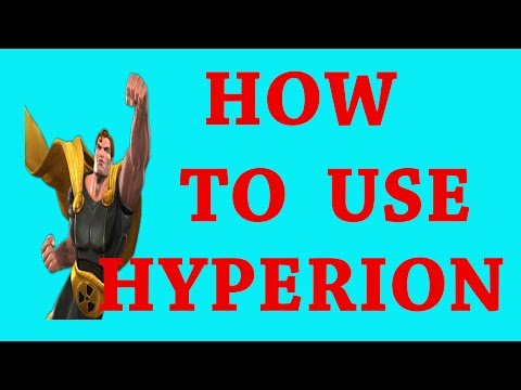 how to use hyperion  marvel contest of champion