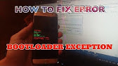 How To Fix bootloader exeption On Samsung Mobile - YouTube