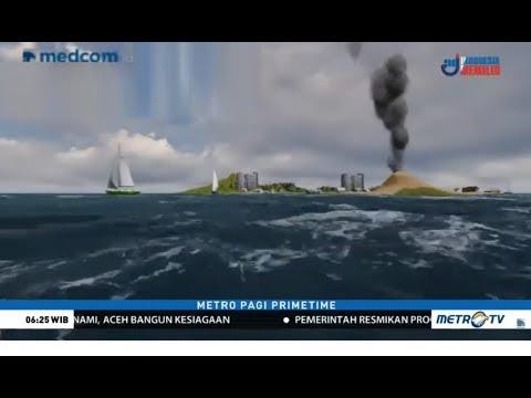 BMKG Rilis Titik Aman dari Kemungkinan Tsunami Akibat  Gejolak Gunung Anak Krakatau