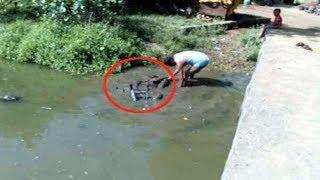 मछली पकड़ने तालाब में फेंके जाल में फंसी ये चीज, फिर देखने लगी भीड़