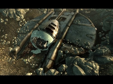 Fallout 3 - Alien Spaceship (LOCATION) - YouTube on