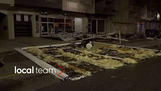 Uragano Leslie devasta Figueira da Foz: sushi bar disintegrato