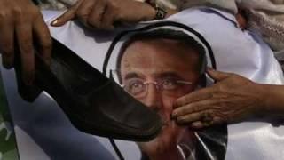 A shoe attack on president Asif Ali zardari