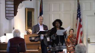 Rufus Muller & Diana Solomon-Glover at Federated Church of Orleans, October 2019