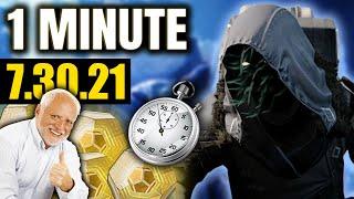 Great Armor! ⁽ᵇᵃᵈ ʳᵒˡˡˢ⁾ Xur in 1 MINUTE! (7.30.21) Destiny 2 Beyond Light