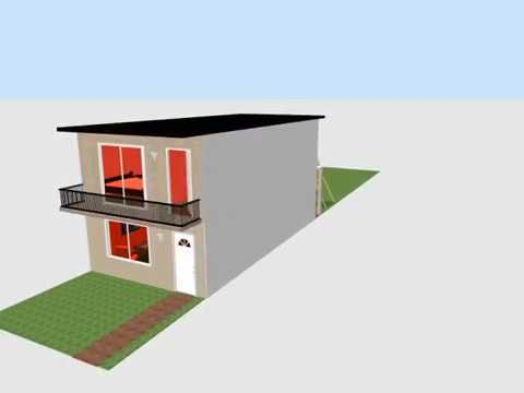 Casa 5x10 mts 50 m2 house 5x10 youtube for Casa moderna de 50 m2