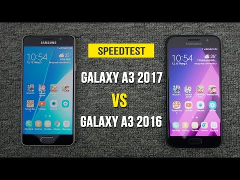 Speedtest - Samsung Galaxy A3 2017 VS Samsung Galaxy A3 2016