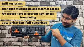 Amkette Xcite Pro USB multimedia Keyboard Mouse Unboxing amp Full Review Hindi How Can I Help U
