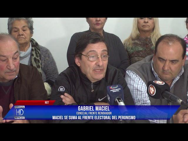 Maciel anunció su adhesión al Frente electoral del peronismo