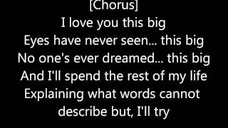 Scotty McCreery-I Love You This Big with lyrics