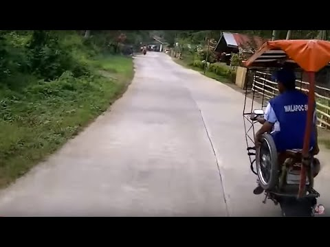 Riding a motor through the Rain forrests of Philippines. Danao to Maasin City