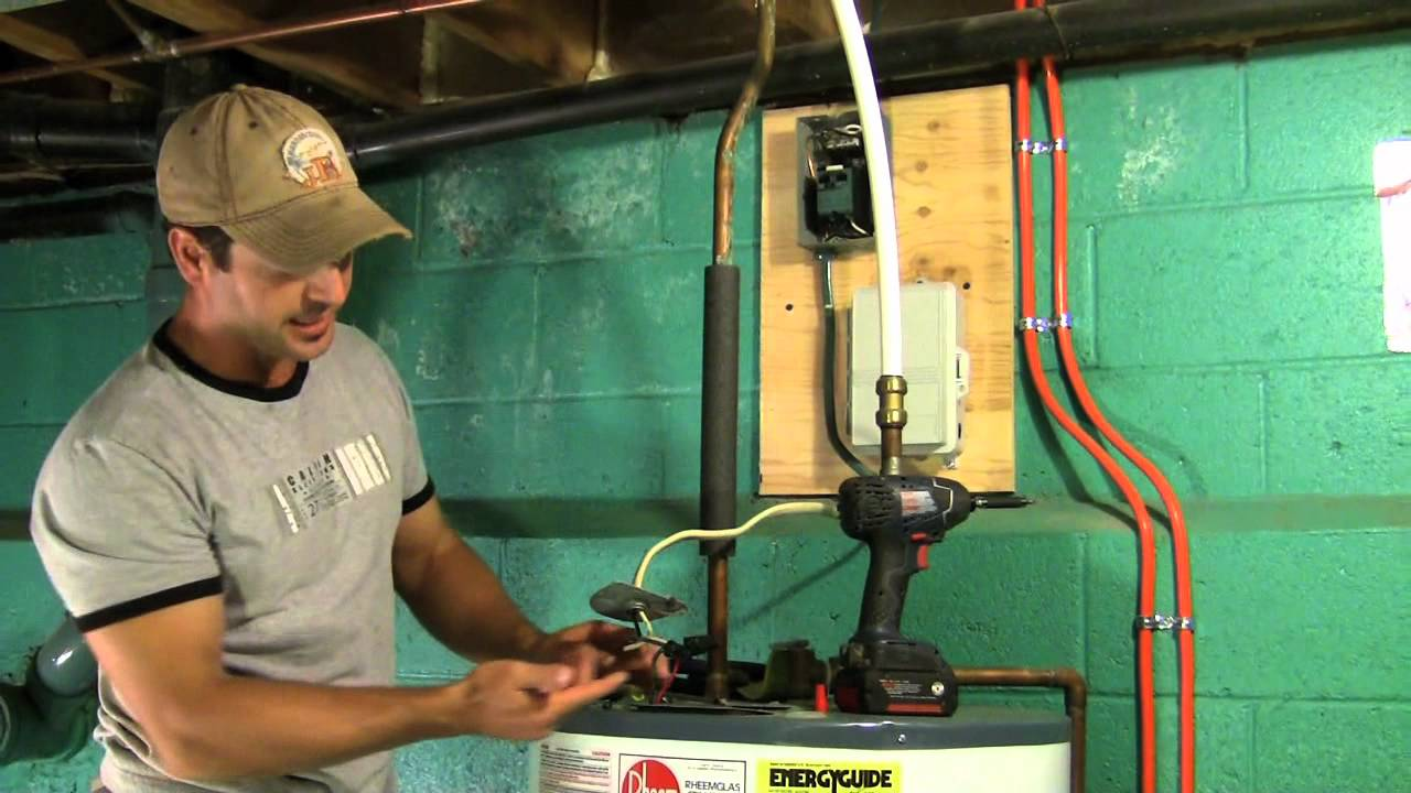 how to install a water heater timer diy step by step youtube rh youtube com wire hook up a hot water heater how do you wire up a hot water heater