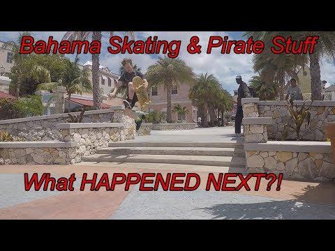 PIRATE STUFF & BAHAMA SKATING! LAST CRUISE VLOG