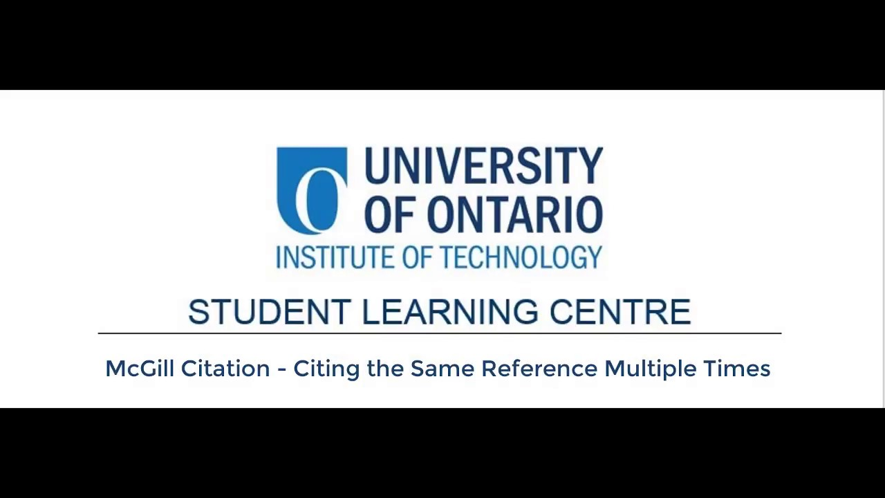 Download Academic Writing Videos - Ibid and Supra in McGill