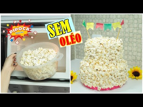 Download Youtube: BOLO DE PIPOCA FAKE + PIPOCA SEM ÓLEO SAUDÁVEL | #CcPah #CeFV | Paloma Soares