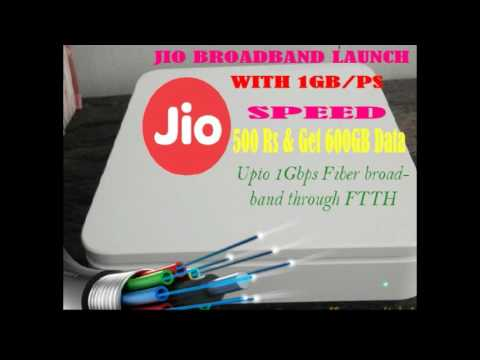 Jio Fiber Broadband FTTH I With 1 GB/Ps Speed I jio giga fiber
