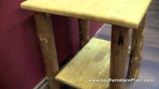 Glacier Country Rustic End Table From Logfurnitureplace.com