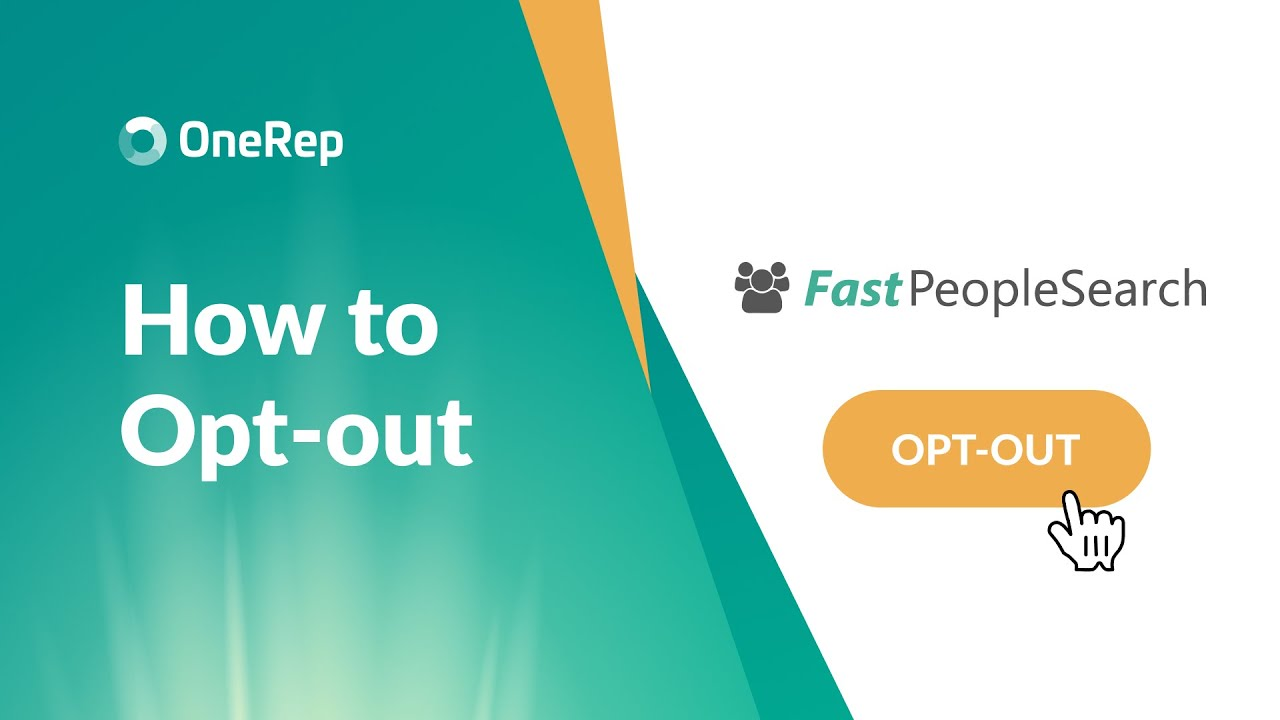 Onerep Review How To Opt Out Of Fastpeoplesearch Video Guide Youtube