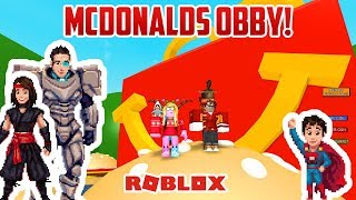 Roblox: LET'S DO A MCDONALDS OBBY!