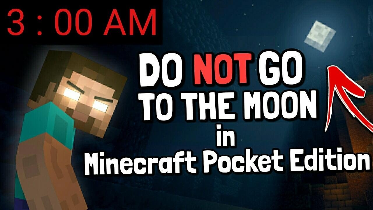 I FOUND HEROBRINE ON THE MOON AT 3:00 AM in Minecraft Pocket Edition!!