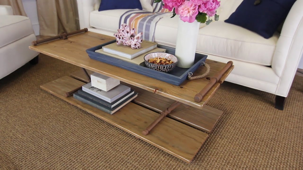 industrial coffee table with metal pipes youtube - Lowes End Tables
